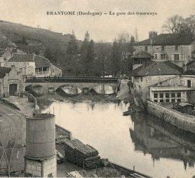 la gare des tramway de Brantôme